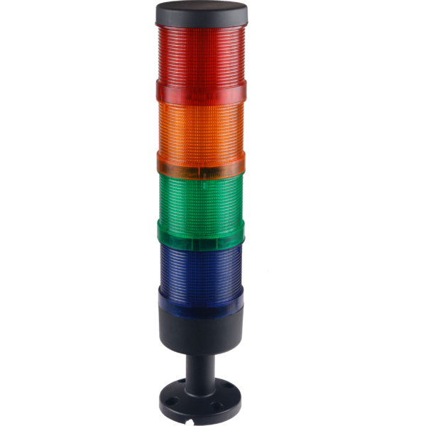 Signal tower 70 mm, complete, red/yellow/green/blue LED